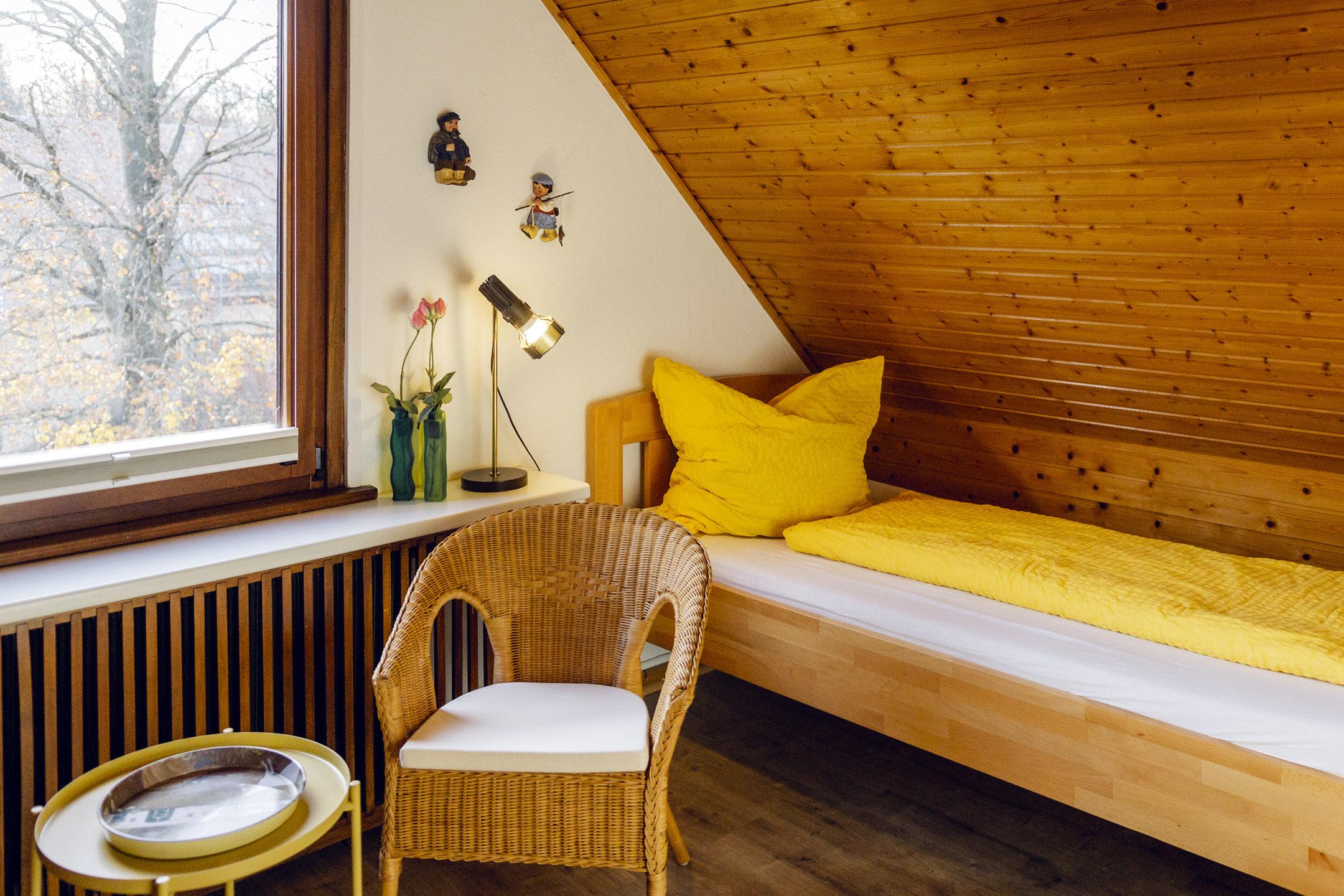 Dachgeschoss-Bett